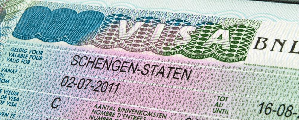 Voorbeeld visum sticker