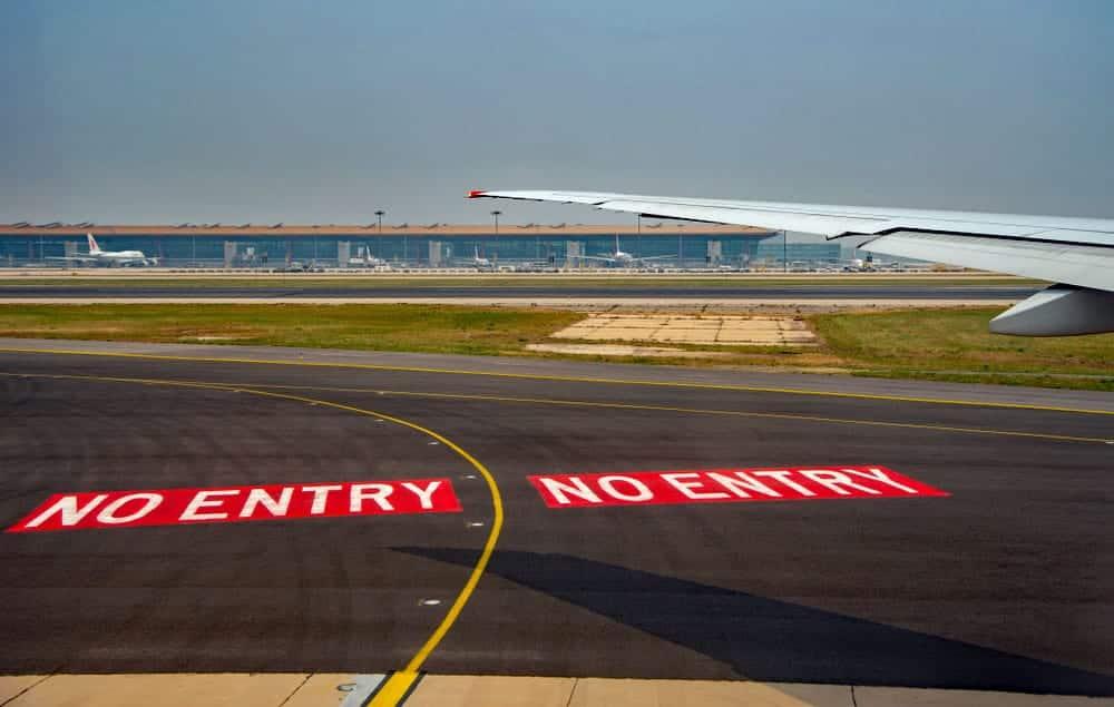 Inreisverbod vluchten uit Zuid-Afrika